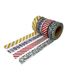Look at this Christmas Washi Tape - Set of Four on #zulily today!