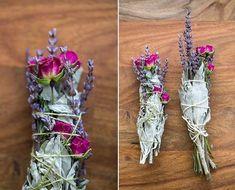 How To Make a Smudge Stick with Sage, Lavender and Rose Learn how to make a smudge stick with this easy floral DIY. We're dying to burn our white sage smudge sticks from 100 Layer Cake. Sage Smudging, Serpentina, White Sage Smudge, Ideias Diy, Smudge Sticks, Book Of Shadows, Magick, Witchcraft, Wiccan Spells