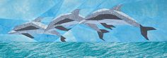silver linings quilting pattern dolphin frolic. Could be done as stained glass.