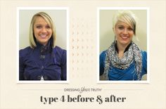 Megan's bold and striking Dressing Your Truth Type 4 Transformation!
