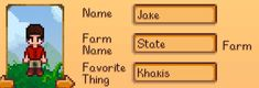 Friends make this joke about my name so I just embraced it. (Stardew Valley) NO XD