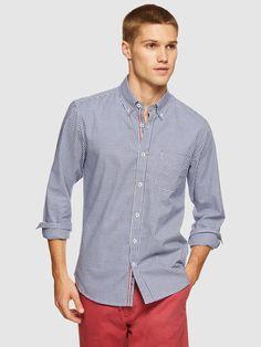 UXBRIDGE CHECKED SHIRT   BLUE DARK - Oxford Shop Check Shirt, Workwear, Oxford, Shirt Dress, Dark, Mens Tops, Blue, Shirts, Shopping