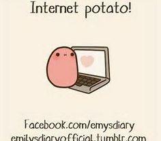 Happy Potato, Cute Potato, Cute Memes, Funny Memes, Potato Meme, Tumblr Comics, Kawaii Potato, Unicorn Drawing, Little Potatoes
