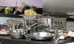 """Demeyere® """"Atlantis"""" with """"InductoSeal"""". Stainless steel with copper core. Made in Belgium. Works on induction."""