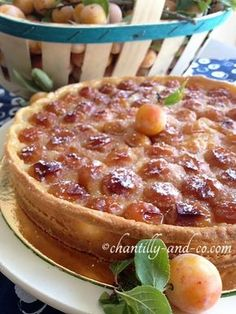 Tarte aux mirabelles d'Eric Kayser – chantilly and co Eric Kayser Mirabelle Pie – Chantilly und Co. Chefs, Plum Tart, Sweet Pie, French Pastries, Dessert Table, Cake Cookies, Summer Recipes, Food Pictures, Sweet Recipes