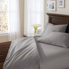 Better Homes and Gardens 400 Thread Count Solid Egyptian Cotton True Grip Bedding Sheet Set - Walmart.com