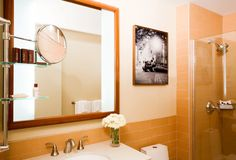 Sheraton Tribeca Guestroom Bath, NYC | Accent Art and Frame