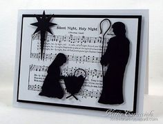 Silent Night Nativity...use an acrylic frame?