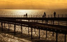 Perfect sunset on #Southend Pier