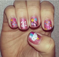 21st birthday nails #21 #birthday #nailart 21st Birthday Nails, 21 Birthday, Acrylic Nail Designs, Nail Art Designs, Acrylic Nails, Reds Bbq, Bbq Apron, Leather Apron, Grilling Gifts