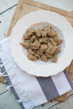 Butter and Sage Sweet Potato Gnocchi - simple and delicious nutrient rich dish!