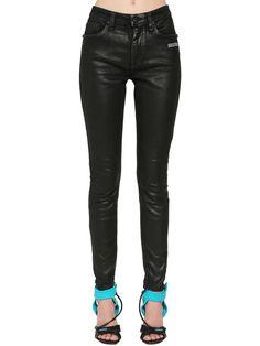 jeans, black and white, billie eilish, denim, half and half, black, white, black jeans, white jeans, black and white jeans - Wheretoget Black And White Jeans, Black Pants, Buy Jeans, Jeans Pants, Off White Coat, Attitude, Leather Pants, Front Button, Skinny Jeans