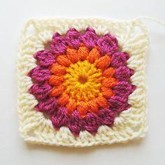 Sunburst Granny Square Blanket Tutorial pattern