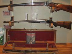 Jim Corbett's double rifle, which is now in the Elmer Keith Museum, Boise, Idaho.  Boxlock .450-400 double rifle by W.J. Jeffery & Co