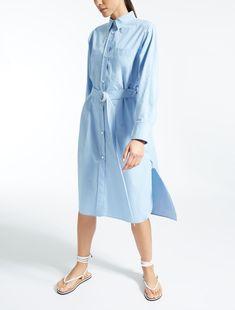 Max Mara CABRAS ciel: Robe en popeline de coton.