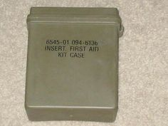 $10.00 #US #MILITARY #ISSUE #INSERT #FIRST #AID #KIT #CASE & #CONTENTS #NSN6545010946136 #APEAK #MILITARY #SURPLUS #COMBAT #ARMY #NAVY #MARINE #AIRFORCE