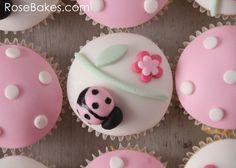 Polka Dots Cupcakes pictures | Ladybug Cupcake and Polka Dots Cupcakes