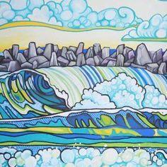 Idiosyncrazies Gallery shows work of Melissa Hood #newjersey #posca #poscamarker #melissaspaintings.com #surf #painting