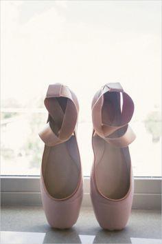 ballet slipper wedding shoes #weddingshoes #balletslippers #weddingchicks http://www.weddingchicks.com/2014/01/17/jackson-hole-wedding/