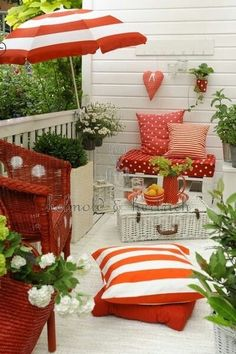 Small Balcony Colorful Ideas