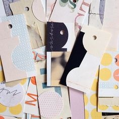 Small mixed media gift tags by Sophie Klerk