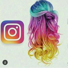 Instagram Colourfull Hair so cute