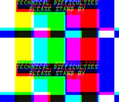 television tv test bars broadcasting smpte pal video signals colorful rainbow stripes bars multi colors retro pop art transmission transmit analogue patterns technical difficulties please stand by glitches poor distortion noisy noise static errors broken fabric by raveneve on Spoonflower - custom fabric