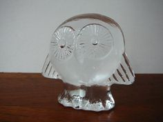 Lisa Larson Owl for Royal Krona Glass Wildlife di DancesWithVases
