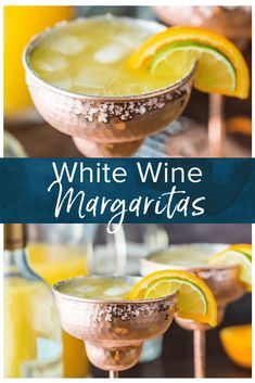 White Wine Margaritas Cocktail Cheers with a WHITE WINE MARGARITA! This easy recipe for a crowd makes a fast pitcher of the best ever white wine cocktail, simple and refreshing! Margarita Recipe For A Crowd, Cocktail Recipes For A Crowd, Margarita Recipes, Food For A Crowd, White Wine Margarita Recipe, Wine Cocktails, Easy Cocktails, Cocktail Drinks, Summer Cocktails