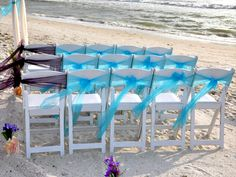 Set the aisle chairs apart by choosing a different color and orientation of sash ... pretty and special