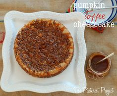 The Pinterest Project: Pumpkin Toffee Cheesecake with Homemade Caramel Drizzle