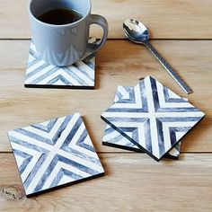Herringbone Coasters #westelm
