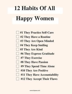 12 Habits of All Happy Women What To Do Before You Travel Before I go on a brand new trip, whatever the reason, stress does not fall o Motivacional Quotes, Life Quotes, Success Quotes, Happy Women Quotes, Successful Women Quotes, Habit Quotes, Year Quotes, Successful People, People Quotes