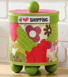 #Upcycle a box, jar, or crate with paint, Mod Podge & paper!