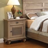 "Riverside Furniture""Coventry Shutter Door Nightstand in Weathered Driftwood"
