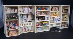The Nutcracker toyshop. Grande étagère au premier étage