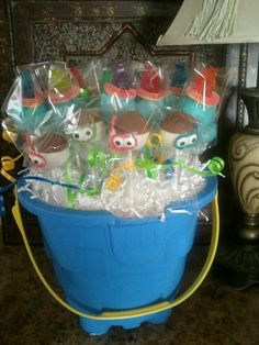 Cake Pops I made for my nephew Jack's School end of year swim party.