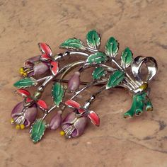 Fuchsia birthday flower brooch Exquisite | Jewels & Finery UK
