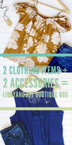 Boutique Box Subscription - 2 Clothing Items and 2 Accessories Monthly for only $45!!  Over $75 worth of items for CHEAP.  Get new summer style just in time for your favorite season.