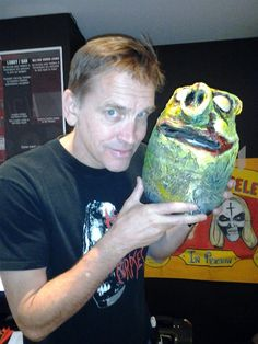 Bill Moseley aka Otis from House of 1000 Corpses admires our zombie piggy at the Mile High Horror Film Festival on Sunday afternoon!    http://MonsterMakeupFX.com  http://www.MileHighHorrorFestival.com/