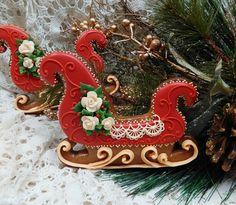 Pretty, pretty pretty Christmas sleigh by Teri Pringle Wood