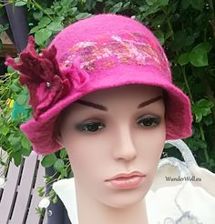 Filz Hut, Felt hat, Cloche Hut, Wollmütze, einzigartig, handgefertigt Felt Hat, Hats, Fashion, Felting, Handmade, Nice Asses, Moda, Fedora Hat, Hat