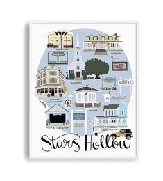 Gilmore Girls House, Gilmore Girls Poster, Stars Hollow Map, Dragonfly Inn, Glimore Girls, Lorelai Gilmore, Nursery Art, Nursery Ideas, Crafts For Girls