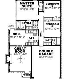 home plans no dining room |  room, 1 family room, 1 study 2 car