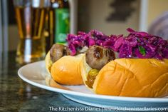 The Kitchenista Diaries: Ginger Beer Brats with Grilled Cilantro Lime Slaw