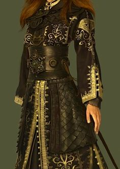 This looks like Elizabeth's pirate outfit in the PotC movie. Mode Steampunk, Steampunk Fashion, Warrior Fashion, Fantasy Dress, Fantasy Clothes, Halloween Kostüm, Mode Inspiration, Character Inspiration, Character Outfits