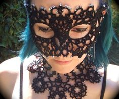 Tatted Mask - Instructables.com (you need to register to get instructions).