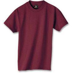 Hanes Boys' Short Sleeve Beefy Tee, Boy's, Size: Large, Red