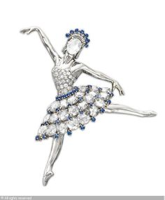 A DIAMOND ZORINA BALLERINA BROOCH sold by Christies, New York, on Tuesday, April 15, 2008