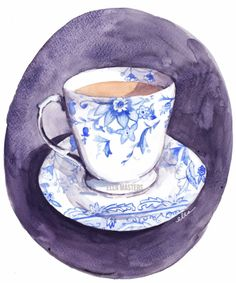 Beautiful illustration of one of our Blue Chintz tea cups by the very talented Ella Masters